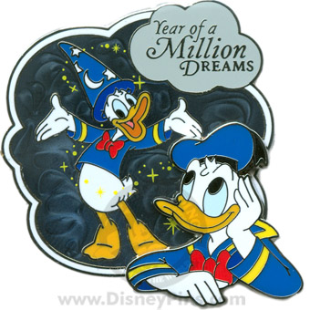 Disney Where Dreams Come True Pin - Donald Duck