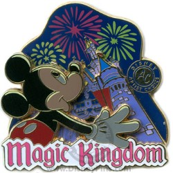 Disney Artist Choice Pin - Mickey and Fireworks