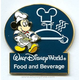 Disney Cast Member Pin - Disney World Food and Beverage - Chef Mickey