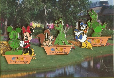 Disney Boxed Pin Set - Flower & Garden Festival - Character Topiaries