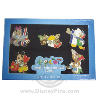 Disney Pin Boxed Set - Food & Wine Festival - 2008