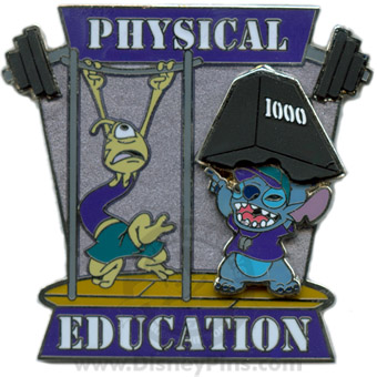 Disney Pin Trading University - Class Schedule - Physical Ed - Stitch