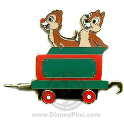 Disney Gold Card Pin - Character Train - Coal Car