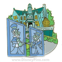 Disney Gold Card Pin - The Haunted Mansion - Duellers
