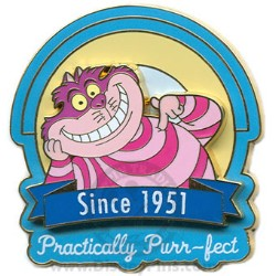Disney Gold Card Pin - Character Tag Line - Cheshire Cat