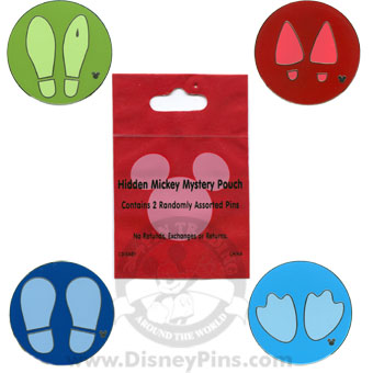 Disney Hidden Mickey Pin - Character Feet - 2 Random