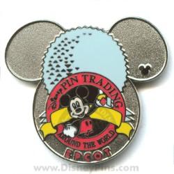 Disney Hidden Mickey Pin Epcot Trading Logo