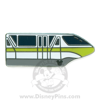Disney Hidden Mickey Pin - Monorail - Lime