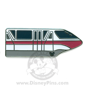 Disney Hidden Mickey Pin - Monorail - Coral