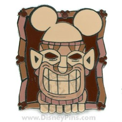 Disney Hidden Mickey Pin - Tiki with Big Smile