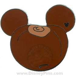 Disney Hidden Mickey Pin - Buckeye Mickey