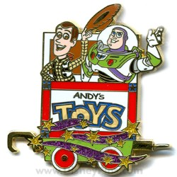 Disney Mystery Tin Pin - Character Train - Buzz Lightyear and Woody