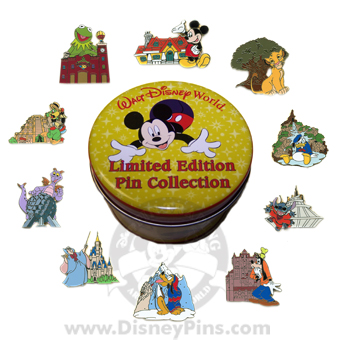 Disney Mystery Tin - In the Parks - 10 Pin SET COMPLETE
