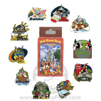 Disney Mystery Pin & Card Collection - Disney World - Complete Set
