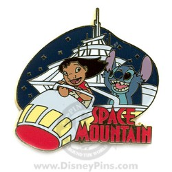 Disney Mystery Pin & Card - Disney World - Space Mountain