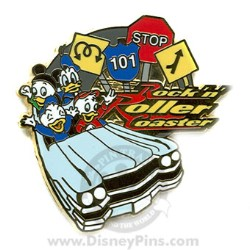 Disney Mystery Pin & Card - Disney World - Rock 'N Roller Coaster