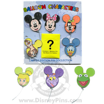Disney Mystery Pin Collection - Character Balloons - 6 Pins
