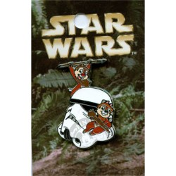 Disney Mystery Pin & Card - Star Wars - Chip and Dale as Ewoks