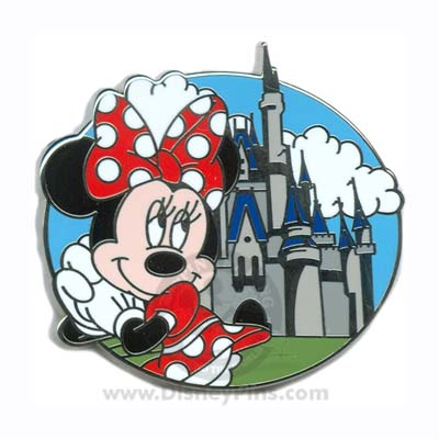 Disney Mystery Tin Pin - Cinderella Castle - Minnie Mouse