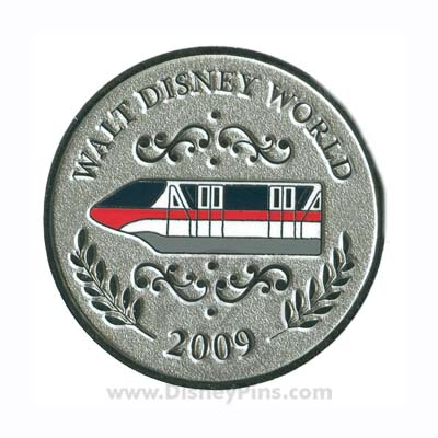 Disney Mystery Pin - Character Coins - Monorail