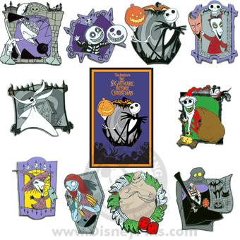 Disney Mystery Pin & Card - Nightmare Before Christmas - 2 Random
