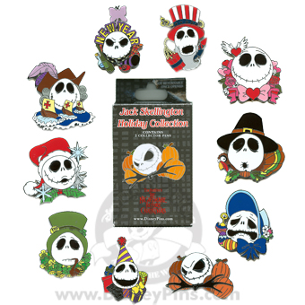 Disney Mystery Pin & Card Collection - Holiday Jacks - COMPLETE SET