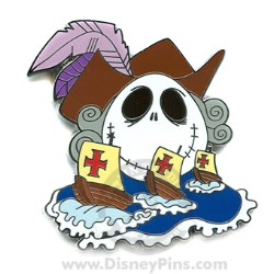 Disney Mystery Pin & Card - Holiday Jacks - Columbus Day