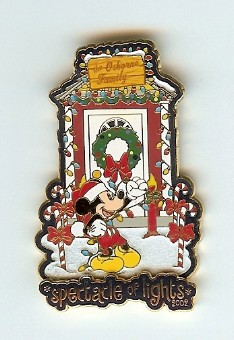 Disney Passholder Pin - Spectacle of Lights 2002 - Mickey