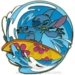 Disney Spotlight Pin - Surfing the Waves - Stitch