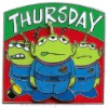 Disney Spotlight Pin - Little Green Men Days of the Week - Thursday