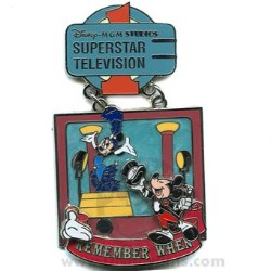 Disney White Glove Pin - Remember When - SuperStar Television