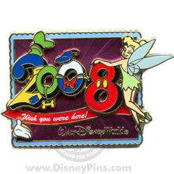 Disney White Glove Pin - Wish You Were Here 2008 - Tinker Bell