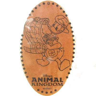 Disney Pressed Penny - Animal Kingdom - Safari Donald Duck with Map