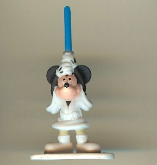 Disney Series 4 Star Wars Mini Figure - MICKEY MOUSE - LUKE SKYWALKER