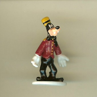 Disney Series 5 Mini Figure - HOLLYWOOD TOWER HOTEL BELLHOP GOOFY