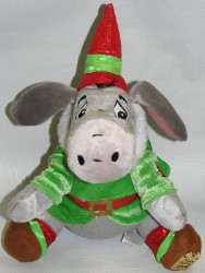 Disney Plush - Eeyore - Santa Elf