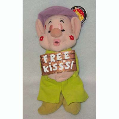Disney Plush - Dopey Dwarf - Free Kisses