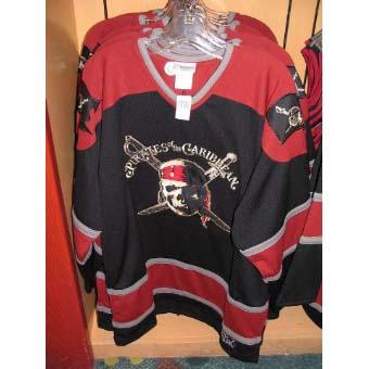 Disney Adult Hockey Jersey Shirt - Pirates of the Caribbean 9be2c90fb01