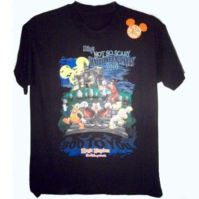 Disney Child Shirt - BLACK Mickey's Not So Scary Halloween Party