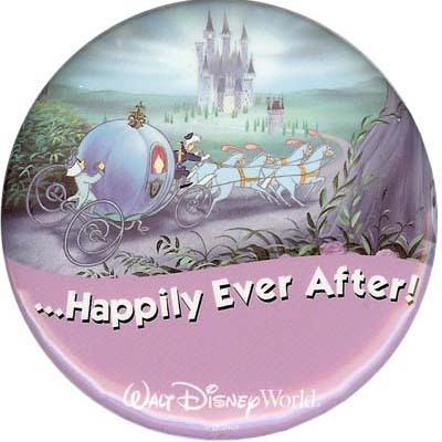 Disney Souvenir Button - Cinderella - ...Happily Ever After!