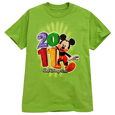 Disney Child Boys Shirt - 2011 Mickey Mouse - Green