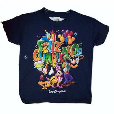 Disney Child Shirt - Mickey and Pals Feliz Compleaños