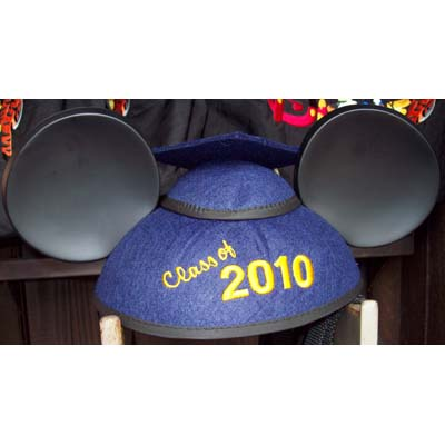 Disney Hat - Ears Hat - Graduation Class of 2010