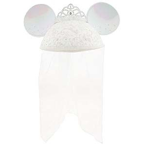 Disney Hat - Ears Hat - Wedding - Bride