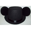 Disney Mickey Mouse Ears - Wedding Groom Black Top Hat