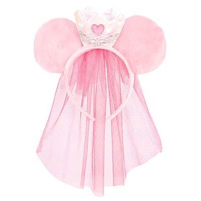 Disney Headband Hat - Veiled Princess Minnie Mouse Ears Girls