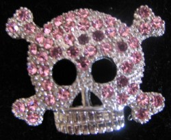 Disney Pin - Pink Jewel Pirate Skull Princess