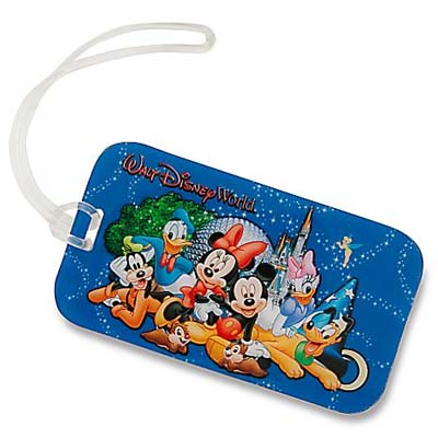 picture about Disney Luggage Tags Printable identify Disney Bags Bag Tag - MICKEY AND Buddies WITH PARK ICONS