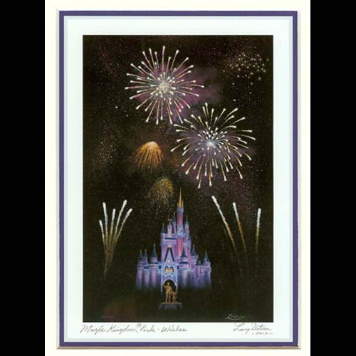 Disney Artist Print - Larry Dotson - Magic Kingdom Park - Wishes