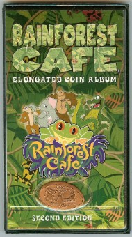 Disney Rainforest Cafe Pressed Penny Collector Book Second Edition